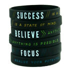 Focus Believe Success Wristbands Men Bracelet Silicone Band Bangle Fashion Gift image