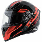 Torc T15B Bluetooth Motorcycle Helmet - Gloss Black Edge Red - CHOOSE SIZE