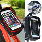 Bicycle Bike Frame Pannier Front Tube Bag For Cell Phone TPU Touch Screen