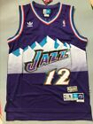 NWT Men's John Stockton Utah Jazz Throwback Swingman Jersey Purple Size S-XXL