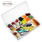 157/Set Metal Mixed Spinner Fishing Lure Pike-Salmon Baits Bass Trout Fish Hook