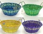4x23cm Faded Oval Bamboo Basket w Handle Easter Basket Party Décor Gift Basket