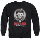 BETTY BOOP BORN TO RIDE Licensed Adult Pullover Crewneck Sweatshirt SM-3XL $33.96 USD on eBay