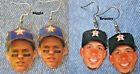 Houston Astros Craig Biggio and Michael Branley Earrings on Ebay
