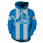 Detroit Lions Hoodie Medium-XXL 2XL Unisex Men Women Football Michigan on eBay