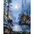 Drill Diamond Painting Kit Like Cross Stitch The Log Cabin Near Deep Pool ZY119B $21.1 USD on eBay