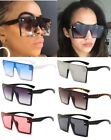 Women Oversized Vintage Square Sunglasses Gradient Retro Trend Flat Top Glasses