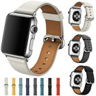 New Genuine Leather Watch Strap Bracelet Wrist Band For Apple Watch 1234 38/42mm image