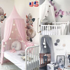 Princess Bed Kids Canopy Hanging Dome Lace Mosquito Net for Crib Curtain Bedding image