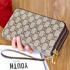 Double Zipper Wristband Long Clutch Wallets For Women Large Capacity Card Holder image