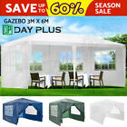 Garden Gazebo Marquee Tent Shade with Side Panels Fully Waterproof Steel Frame