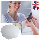 Bathroom Mirror Tiles Wall Stickers Square Self Adhesive Reflective Decor Uk