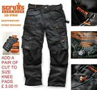 SCRUFFS Work Trousers 3D PRO Hard-Wearing CORDURA FABRIC Knee Pad Pockets Size