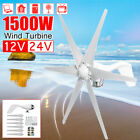 1500W Wind Turbine 6 Blades DC 12V/24V Generator Strong Power For Battery Charge