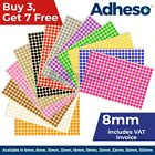Adheso 8mm Coloured Dot Stickers Round Sticky Dots Adhesive Circles Labels
