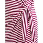New Women's V-Neck Comfortable Summer Tank Ladies Dress with Twisted Tie 3Colors