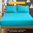 NTBAY 100% Brushed Microfier Fitted Sheet Twin Size with Deep Pocket Sheet  image