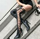 Sexy straps net 2019 new overknee boots nightclub dance large size pumps lady