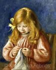 Renoir Girl Sewing Quilt Block Multi Sizes FrEE ShiPPinG WoRld WiDE