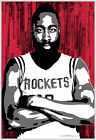 Houston Rockets James Harden - Basketball Art 13x19 Poster Print - Texas TX Team on eBay