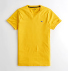 Hollister Men's Short Sleeve Crew Neck Muscle/Must-Have/Curved Tee Logo T-Shirt