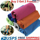 Buy 2 get 2 free ice Cooling Towel for Sports Workout Fitness Gym Yoga Pilates image