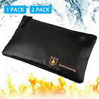Fireproof Water Resistant Money Cash Envelope Safe Document Bag File Pouch Case