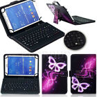 "US For 10"" 10.1 inch Tablets Pattern PU Leather USB Keyboard Case Stand Cover FZ"