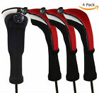 Golf Wood Head Covers Hybrid 4 Pcs/Set with Interchangeable Number Headcovers AU