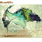 RUOPOTY Frame DIY Painting By Numbers Abstract Dancer Figure Painting Acrylic