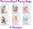Personalised Party Bag Reusable Multi Purpose Bag Printed not Stickers Gift