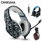ONIKUMA K1 PS4 Gaming Headset casque Wired PC Stereo Earphones Headphones with