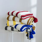 Cotton Stripe Tassels Blanket Knitted Throw Bed Sofa Home Acrylic Crochet Rug