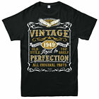 Personalised Made in 1949 Vintage T-shirt, 70TH Birthday Party Age Year Gift Tee