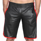 Full Grain Cowhide Real Leather Sports Basketball Short Chaps for Men Heavy