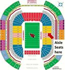 ARIZONA CARDINALS VS LOS ANGELES CHARGERS LL SEC 128 AISLE SEATS 40 YD LN $300.0 USD on eBay