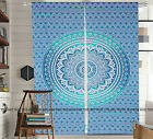Cotton Ombre Mandala Twin Size Window Curtians Ethnic Indian Door Curtains Decor