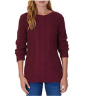 NEW! WOMENS NAUTICA MULTI CABLE KNIT SWEATER! SCOOP NECKLINE! VARIETY SZ/COLORS