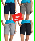 "Hanes Womens Jersey Shorts w Pockets Drawstring Super Soft 100 Cotton 7"" Inseam"