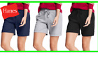 Hanes Bermuda Shorts Pockets French Terry Drawstring Closure Women Activewear