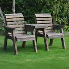 Barrowden Outdoor Wooden Garden Companion 2 Seat / Patio Furniture / Bench 1+1s