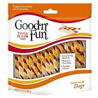 Good'N'Fun Flavor Twists Dog Chews,35/70 Count,Great Source Of Protein