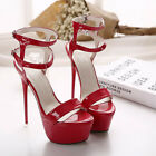 HOT Womens Super-High Heels Sandals Casual Night-club Pump Platform Shoes 16 CM
