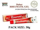 Dabur Rheumatil Gel 30g Ayurvedic Herbal Safe Quick Relief From Aches Pain