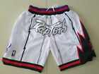 New Men's Toronto Raptors  big LOGO JUST DON basketball pants shorts white on eBay