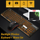 🔥 2.4G Wireless LED Backlit Gaming Keyboard Mouse Pad Set for Desktop PC Laptop