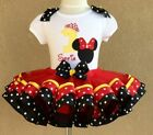 Minnie Mouse Birthday Tutu Outfit with matching Hair Bow;1st, 2nd, 3rd, 4th, 5th