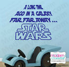 STAR WARS A Long Time Ago Quote Vinyl Wall Decal Lettering Vinyl sticker $15.95 USD on eBay