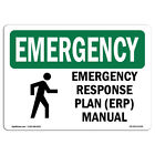 OSHA EMERGENCY Sign - Response Plan (ERP) Manual With Symbol  Made in the USA