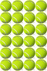 Cupcake Toppers x20 Tennis Ball Rice paper,Icing fondant Sheets.1092
